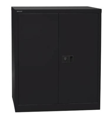 Aktenschrank Universal E402A01433, Stahl abschließbar, 2 OH, 91,4 x 100 x 40 cm, schwarz