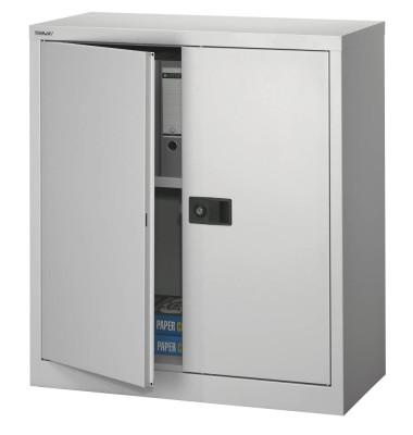 Aktenschrank Universal E402A01855, Stahl abschließbar, 2 OH, 91,4 x 100 x 40 cm, silber