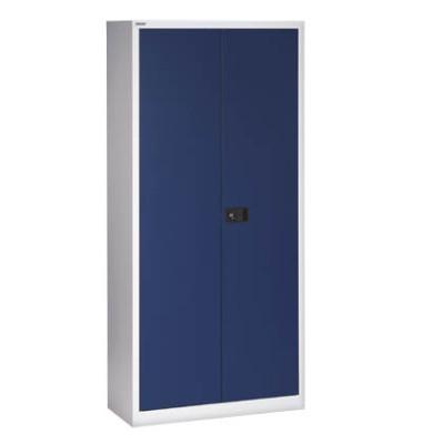 Aktenschrank Universal E722A03505, Stahl abschließbar, 4 OH, 91,4 x 180,6 x 40 cm, blau/lichtgrau