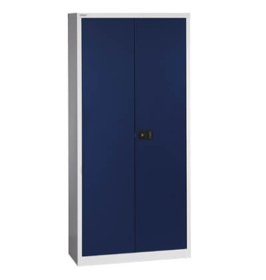 Aktenschrank Universal E782A04505, Stahl abschließbar, 5 OH, 91,4 x 195 x 40 cm, blau/lichtgrau