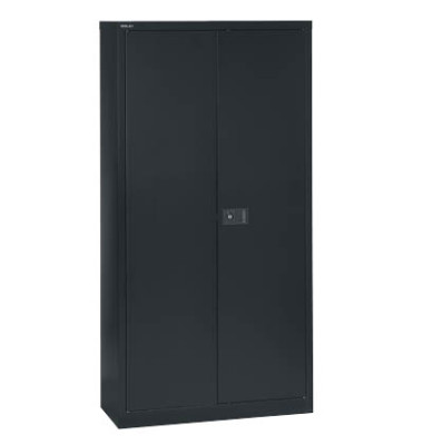 Aktenschrank Universal E782A04433, Stahl abschließbar, 5 OH, 91,4 x 195 x 40 cm, schwarz