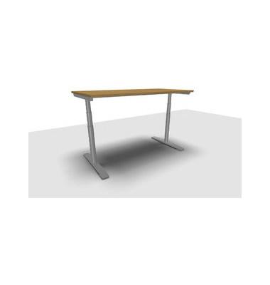 Schreibtisch Jump Move TR0018-4G3PGB8B8D000T1U0 ergonomisch buche rechteckig 160x80 cm (BxT) elektrisch höhenverstellbar