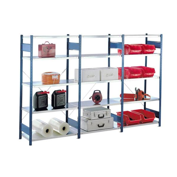 schulte steckregal 100 0 x 40 0 x 200 0 cm blau verzinkt 5 fachb den. Black Bedroom Furniture Sets. Home Design Ideas