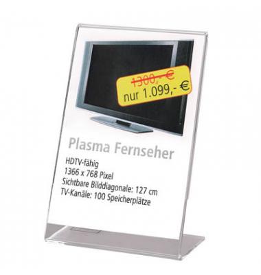 Info-/Preisaufsteller für DIN-A7-Format