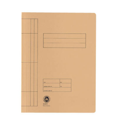 Schnellhefter 3897 A4 chamois 250g Karton kaufmännische Heftung / Amtsheftung bis 150 Blatt 20 Stück