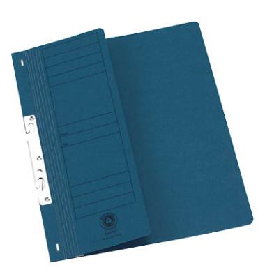 Einhakhefter A4 blau halber Vorderdeckel 20 Stück