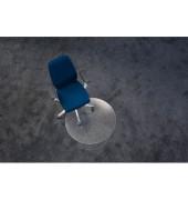 Bodenschutzmatte Ecogrip Ø 60 cm Form R für Teppichböden transparent Makrolon