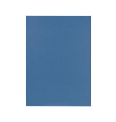 Aktendeckel 250g blau ohne Verschluss