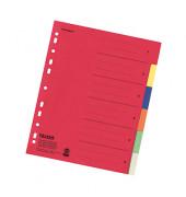 Kartonregister 80001993 blanko A4+ farbige Taben 6-teilig