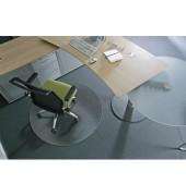 Bodenschutzmatte Ecogrip Ø 120 cm Form R für Teppichböden transparent Makrolon