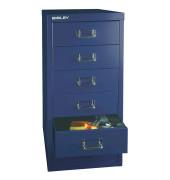 Schubladenschrank MultiDrawer™ 29er Serie L296839, Stahl, 6 Schubladen (Vollauszug), A4, 27,9 x 59 x 38 cm, blau