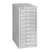Schubladenschrank MultiDrawer™ 29er Serie L2910845, Stahl, 10 Schubladen (Vollauszug), A4, 27,9 x 59 x 38 cm, lichtgrau