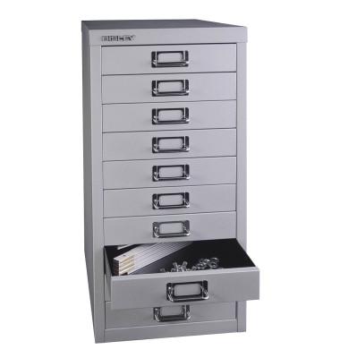 Schubladenschrank MultiDrawer™ 29er Serie L2910855, Stahl, 10 Schubladen (Vollauszug), A4, 27,9 x 59 x 38 cm, silber