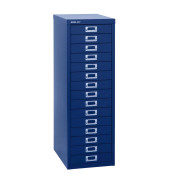 Schubladenschrank MultiDrawer™ 39er Serie L3915839, Stahl, 15 Schubladen (Vollauszug), A4, 27,9 x 86 x 38 cm, blau