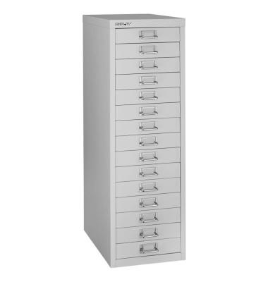 Schubladenschrank MultiDrawer™ 39er Serie L3915845, Stahl, 15 Schubladen (Vollauszug), A4, 27,9 x 86 x 38 cm, lichtgrau