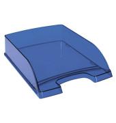 Briefablage 5226 Plus A4 / C4 dunkelblau-transparent stapelbar