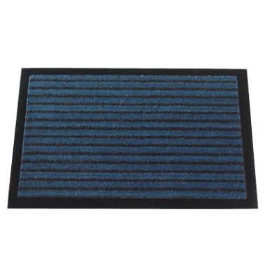 Schmutzfangmatte Grattant 60x90cm blau gestreift