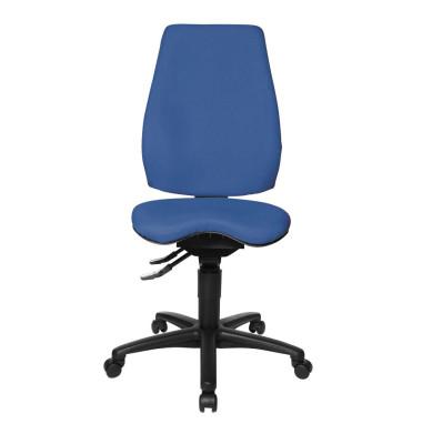 Bürodrehstuhl Body Balance 450 ohne Armlehnen blau