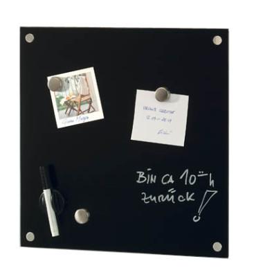Glas-Magnetboard 11602, 40x40cm, schwarz