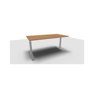 Schreibtisch Jump TN0018-4G2JGB8B8D0D0V0U0M buche rechteckig 160x80 cm (BxT) manuell höhenverstellbar