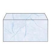 Designbriefumschläge Din Lang ohne Fenster nassklebend 90g Granit blau 50 Stück
