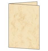 Faltkarten marmor beige DIN A5
