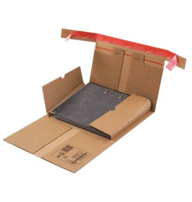 Versandkarton für Ordner 322x292x35-80 mm A4 braun 20 Stück