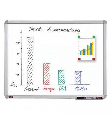 Whiteboard 60 x 45cm beschichtet Aluminiumrahmen