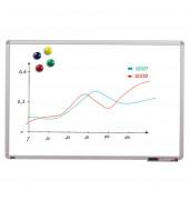 Whiteboard 90 x 60cm beschichtet Aluminiumrahmen