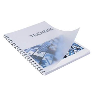 Umschlagfolien 20200014 A4 PVC 0,2 mm transparent matt 100 Stück