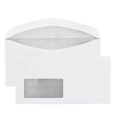 Briefumschläge Din Lang mit Fenster nassklebend 70g weiß 1000 Stück