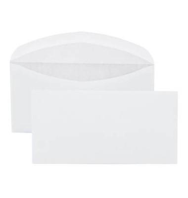 Briefumschläge Din Lang ohne Fenster nassklebend 70g weiß 1000 Stück