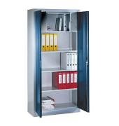 Aktenschrank 9260-100, Stahl abschließbar, 4 OH, 93 x 195 x 40 cm, blau/lichtgrau