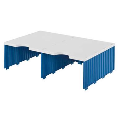 Sortierstation Styrodoc Jumbo mit 2 Fächern C4 grau/blau Aufbaueinheit