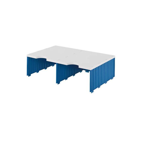 Styro Sortierstation doc Jumbo mit 2 Fächern C4 grau/blau Aufbaueinheit