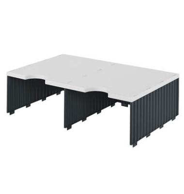 Sortierstation Styrodoc Jumbo mit 2 Fächern C4 grau/schwarz Aufbaueinheit
