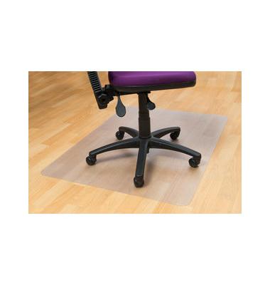 Bodenschutzmatte 120 x 90 cm Form O für Hartböden transparent PVC