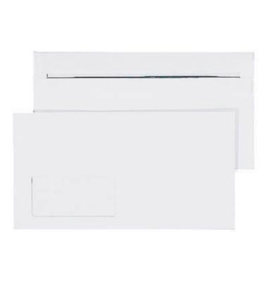 Briefumschläge Kompakt mit Fenster selbstklebend 75g weiß 1000 Stück