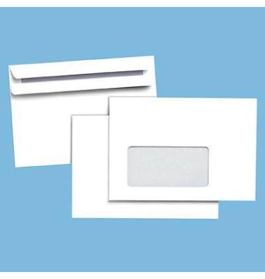 Briefumschläge C6 mit Fenster selbstklebend 75g weiß 1000 Stück