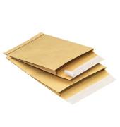 Faltentaschen C4 ohne Fenster 20mm Falte haftklebend 130g braun 100 Stück
