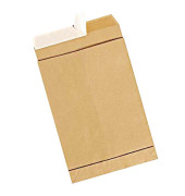 Faltentaschen E4 ohne Fenster 40mm Falte haftklebend 150g braun 100 Stück