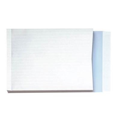 Faltentaschen B4 ohne Fenster 40mm Falte haftklebend 140g weiß 100 Stück