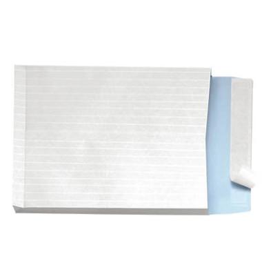 Faltentaschen C4 ohne Fenster 40mm Falte haftklebend fadenverstärkt 140g weiß 100 Stück