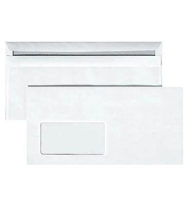 Briefumschläge Din Lang mit Fenster selbstklebend 75g weiß 1000 Stück
