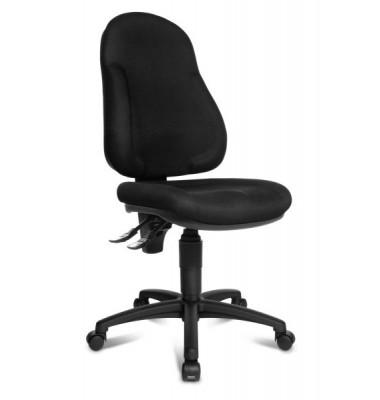 Bürodrehstuhl Wellpoint 10 ohne Armlehnen schwarz