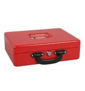 Geldkassette 5621425 Größe 1 rot 300x240x90mm mit Griff vorn