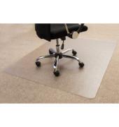 Bodenschutzmatte 120 x 90 cm Form O für Teppichböden transparent PC