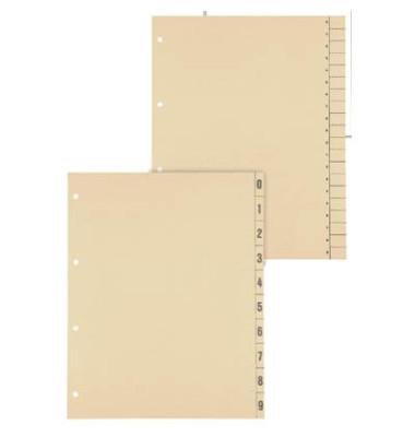 Trennblätter uni A4 chamois 200g 100 Blatt