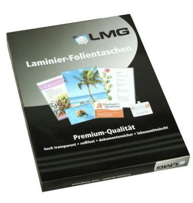 Laminierfolien 90x130mm 2 x 125 mic glänzend 100 Stück