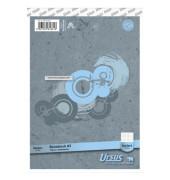 10 Universal-Büroblöcke A5 kariert ohne Rand